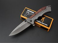 Edc Fast Pas Cher-Browning Canivete FA24 Titanium Tactical Folding Knife Fast Open 5Cr15Mov 57HRC Outdoor Hunting Survival Couteau de poche Military Utility EDC