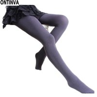 Wholesale Wholesale Cheap Sexy Tights - Wholesale- Women Autumn Winter Tights Napping Tights Slim Sexy Hosiery Pantyhose hose Female Sexy Warm Trouser Brand New Cheap Freeshipping
