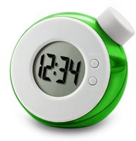 Wholesale Wholesale Water Powered Clock - Wholesale-Quiet Desk Magic Eco-friendly Salt Perfumn Water Powered Digital Alarm Clock Run Solely On Water No Battery With Time Date