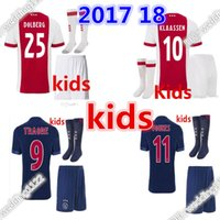 811a0e79f2d Soccer Boys Short top quality 2017 2018 Ajax FC Soccer Jerseys kids kits +  socks 17
