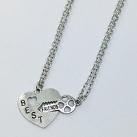 Wholesale Lock Key Necklace Couple - Key lock pendants Japan and South Korea version of the love lock key couple two stitching necklace men and women gifts