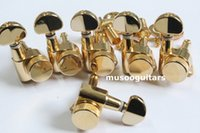 afinadores para guitarras al por mayor-JinHao 6R GD Guitar Lock Tuners Mini Botton