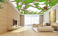 aislamiento d de estilo europeo para el techo fresco amor pjaro d de papel tapiz