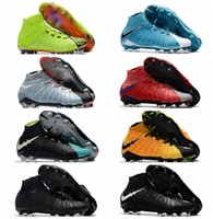 Wholesale Cheap Soft Ground Soccer Cleats - 2018 mens soccer cleats Hypervenom Phantom III EA Sports FG soccer shoes soft ground football boots cheap Rising Fast Pack neymar boots Red