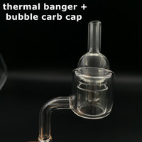 Wholesale Crystal P - XL Quartz thermal banger and carb cap domeless thermal P banger nail with double tube 10mm 14mm 18mm male female Thermal Banger Nails