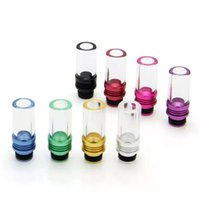 Wholesale Ego Cigarette Driptip - 510 Aluminum Glass Drip Tips Wide Bore Mouthpiece Curved Flat Pyrex Glass Driptip For E Cigarette CE4 Evod 510 EGO Atomizers Mouth Tips