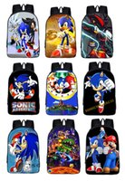 orange sonic - Anime Sonic School Backpack Knapsack Boys Girls Daypack Cartoon Children School Bags Students Kindergarten Kids Shoulder Bag