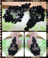 Wholesale Lace Applique Black Venise - Fashion 10pcs  lot Flower Floral Venice Venise Black Beaded Lace Applique Sewing Trims DIY Craft TT-4019