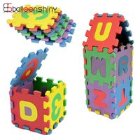 Wholesale 3d Alphabet - Wholesale- 36pcs set Mini Puzzles Digital Alphabet Letters A~Z Alphabetical & 0~9 Numerical Soft EVA Foam Mat Kids Learning Education Toy