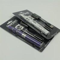 Wholesale Ego Vapes - Snoop Dogg Blister Kit 650mah eGo Dry Herbal Vaporizers Vape Pens With Vaporizer Dry Herb Vapes Tank Starter Kits Electronic Cigarettes