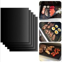 Wholesale Black Mesh Sheet - 2017 BBQ Mat Grill Mat Non-Stick Reusable BBQ Cover Cooking Baking Microwave Mats Resuable Barbecue Sheet Pad Heat Resistance Grill Mat