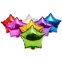 globos para bodas de color al por mayor-Globos de papel de aluminio de helio estrella de cinco puntas de 18 pulgadas para bodas y eventos 9 colores