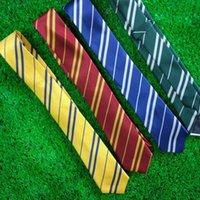 Wholesale High Quality Brand Necktie - High quality 4 stylel Handsome Men Silk Neckties Fashion Wedding Brand Man neck ties striped Harry Potter Design neckwear 100pcs 240418