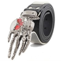 Wholesale Hip Hop Cars - Personality Man Human Skeleton At Hand Rock Hip-hop PUNK Non Main Stream Belt Street Outdoors Trend PU