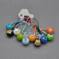 Wholesale Donald Duck Charms - Mickey Minnie Donald Duck Lilo & Stitch Tigger Cell Phone Strap JINGLE BELLS Dangle Charms