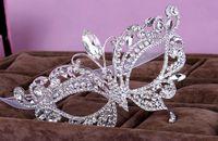 kıyafet elmas toptan satış-Stokta muhteşem elmas çivili parti maskesi Kristal Taçlar Rhinestone Jewels bling masquerade Aksesuarları