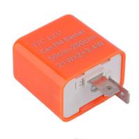 einstellbare frequenz großhandel-12V 2 Pin Auto Einstellbare Frequenz LED Blinkrelais Motorrad Blinker Motorrad Fix Blinker Anzeige