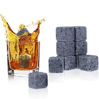 Wholesale Rock Stocks - Whiskey Stones Reusable Ice Stone Chilling Rocks Cubes in Gift Box with Carrying Pouch, Set of 9 for Whiskey, Bourbon, Wine