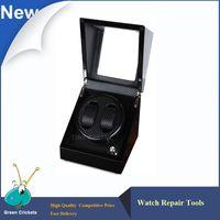 Wholesale Carbon Fiber Storage Boxes - Wholesale- Ultra Luxurious Carbon fiber 2+0 Silent motor Wooden automatic Watch Winder,mechanical watches storage winder box