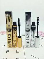 Wholesale Wholesale Slim Fast - Kylie Jenner Mascara Magic thick slim waterproof mascara Black Eye Mascara Long Eyelash Charming eyes Cosmetic Gold Silver