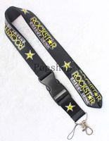 Wholesale Beautiful Lanyards - Beautiful Rockstar Lanyard Keychain Key Chain ID Badge cell phone holder Neck Strap .