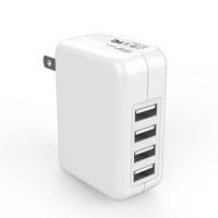 Wholesale Usb 4.2a - JOYROOM 4 USB Wall Chargers 5V 4.2A EU US Plug AC Power Adapter Home Travel Wall Charger For iphone Samsung