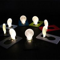 Wholesale Mini Night Lighting Lamp - New Arrival LED Novelty Light LED Credit Card Portable Light LED Portable Pocket Card Lamp Wallet Lamp Credit Card Mini Night Light