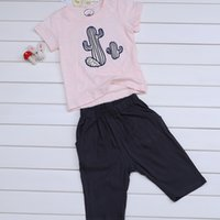 Wholesale Tank Tops For Baby Girls - New Casual clothes for kids girls&boys Baby trousers & Short sleeve shirt Spring Summer Autumn Children's clothing