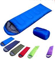 Wholesale Hiking Cold Weather - Outdoor Sleeping Bags Warming Single Sleeping Bag Casual Waterproof Blankets Envelope Camping Travel Hiking Blankets Sleeping Bag KKA1602