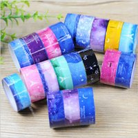 Wholesale Scrapbooking Adhesive Tape - Wholesale- 2016 5 pcs lot DIY Cute Kawaii Plastic Tape Lovely Star Decorative Adhesive Tape For Home Decoration Scrapbooking Free Shipping