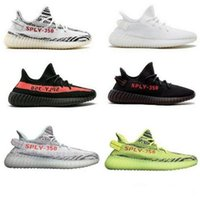 2017 SPLY 350 V2 V3 boost CP9366 triple blanc Zebra UV lumière Kanye west sneakers Hommes Femmes Chaussures de Course size36-46