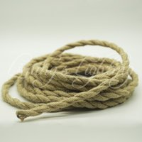 Wholesale Wholesale Twist Cord - 5m lot 2x0.75 Rope Twisted Cable Retro Braided Electrical Fabric DIY Pendant Wire Vintage Lamp Cord Copper For Pendant Lights