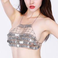 Wholesale China Hot Bikini - Hot Sexy Body Chain Golden Elegant Tassel Multilayer Sexy Bikini body Chain Boho Beach Bodychain Jewelry Colar