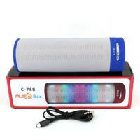 Wholesale Cheap Wholesale Portable Speakers - 2016 Newest Prodduct LED Speaker C-78B Portable Wireless Bluetooth with Colorful LED Light Cheap 2.1 HiFi Bluetooth Speakers support TF card