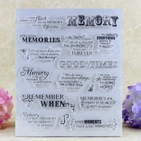 Wholesale Girl Scrapbooks - Wholesale- YLCS169 Memory Girl Silicone Clear Stamps For Scrapbook DIY Album Paper Cards Decoration Embossing Folder Rubber Stamp 15x18cm
