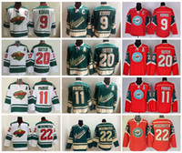 Wholesale Ryan Suter - Cheap Minnesota Wild Home Jerseys 9 Mikko Koivu 11 Zach Parise 20 Ryan Suter 22 Nino Niederreiter Hockey Jerseys Stitched Logo S-XXXL
