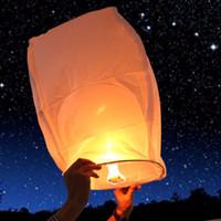 Wholesale Paper Wish Lanterns For Weddings - NEW Wishing Lantern fire balloon Chinese Kongming lantern Wish Lamp Sky Lanterns for Wedding Party Paper Sky Fire Lanterns