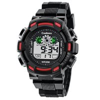 Coolboss Multifunction Children Watch Electronic Digital LED Montres-bracelets Boy Girl Étudiants étanches Montres militaires Relogio Masculino