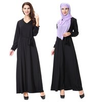 Milch Seide Maxi Kleider Kaufen -TH907 2017 neue Mode Milch Seide Nähte große Swing Dubai Robe Muslim Arab Arab Middle East Türkei Damen Robe Maxi Kleider plus Größe m-XL