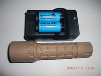 Wholesale cree ultrafire flashlight battery charger resale online - sand surefire G2 set Cree R2 Lm Uwe SURE UltraFIRE G2 P P60 Black BK body tactical hunter flashlight RCR123A battery charger Set