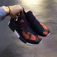 Wholesale Out Stock Shoes - 5 color Pharrell Williams NMD HUMAN RACE SHOES COOL STOCK DROP SHIP Summer Shoes man New Fashion running shoes size 40-45