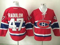 Wholesale Alexander Mix - Top Quality ! 2016 New Men Montreal Canadiens Ice Hockey Jerseys Cheap #47 Alexander Radulov Jersey Authentic Stitched Jerseys Mix Order !