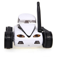 Wholesale Spy Robots - 2017 RC Mini Tank Car Spy with Video 0.3MP Camera WiFi Remote Control By iphone Android Robot with Camera 4CH White S