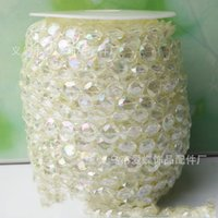 Wholesale Wholesale Decorating Wedding Pearls - 10mm DIY Line Bead The Wedding Crystal Beads Connect Decorate Stage Background A String Of Pearl Lines Beading 30 meters One Piece 16ad R