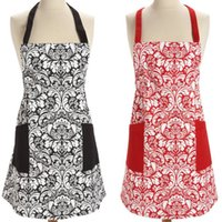 Wholesale Retro Aprons - Retro Aprons Home Cooking Kitchen BBQ Dinner Party Baking Apron Front With Pocket Fashion Adult Man Woman Aprons 11 color KKA2223