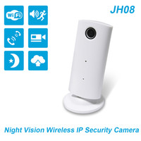 Wholesale Wireless Sd Card Security Cameras - JIMI Night Vision IP Camera and 8G SD Card,JH08 Wireless Camera Security System Battery Powered Bluetooth Camera