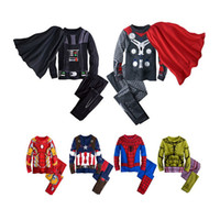 Wholesale Children Cute Underwear - cute boy pajamas set lovely cartoon anime stye cotton sleepwear set for 1-10yrs boys children kids underwear night clothes hot