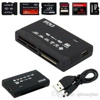 Wholesale Sd Mmc Sdhc - Universal Multi in 1 All in One Memory Card Reader USB External SD SDHC Mini Micro M2 MMC XD CF
