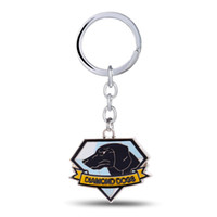 Wholesale Car Gear Diamond - 12 pcs lot METAL GEAR Key Chain Diamond Dog Key Rings For Gift Chaveiro Car Keychain Jewelry Game Key Holder Souvenir YS11106