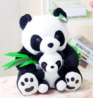 Wholesale Baby Panda Toy - Cuddly Hold Bamboo Mother and Baby Panda Toy - 25cm 30cm 40cm Stuffed Animals Cushion Plush Doll Toys Plush Doll Gift